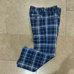 Janie and Jack boy's pants. Blue plaid. Size 5.